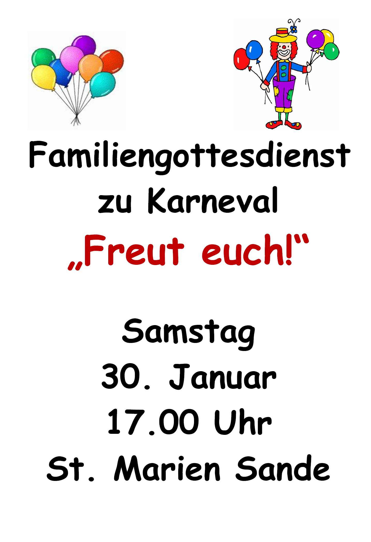 Plakat (Fam-Godi Karneval 2016)