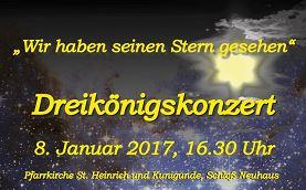 Jubiläums-Dreikönigskonzert Am 8.1.2017