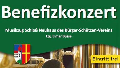 Benefizkonzert des Musikzugs Schloß Neuhaus