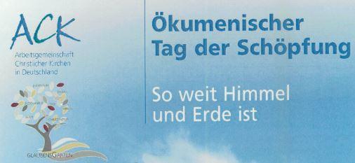 Ökumenischer Tag Der Schöpfung Am 9. September