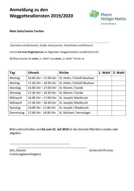 thumbnail of Anmeldebogen Weggottesdienste EK 2019