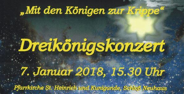 Dreikönigskonzert, 07. Januar 2018
