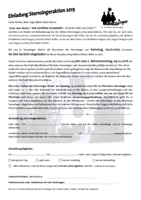 thumbnail of Einladung Sternsinger 2019 – Sennelager