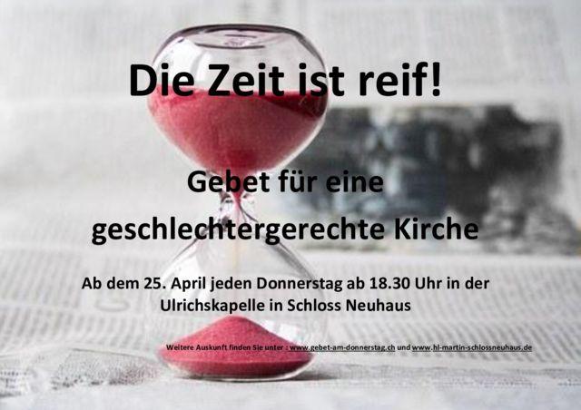 thumbnail of Flyer Die Zeit ist reif 3