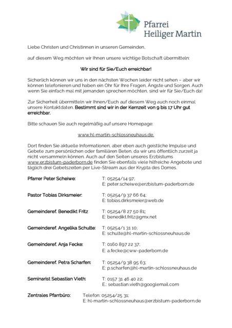 thumbnail of Informationen an die Gemeinden (24.03.2020) Seite 1