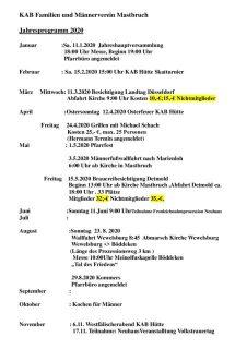 thumbnail of Jahresprogramm 2020