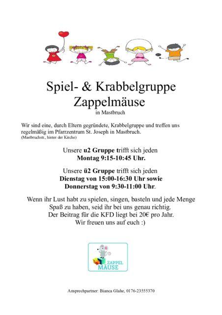 thumbnail of Krabbelgruppe Plakat