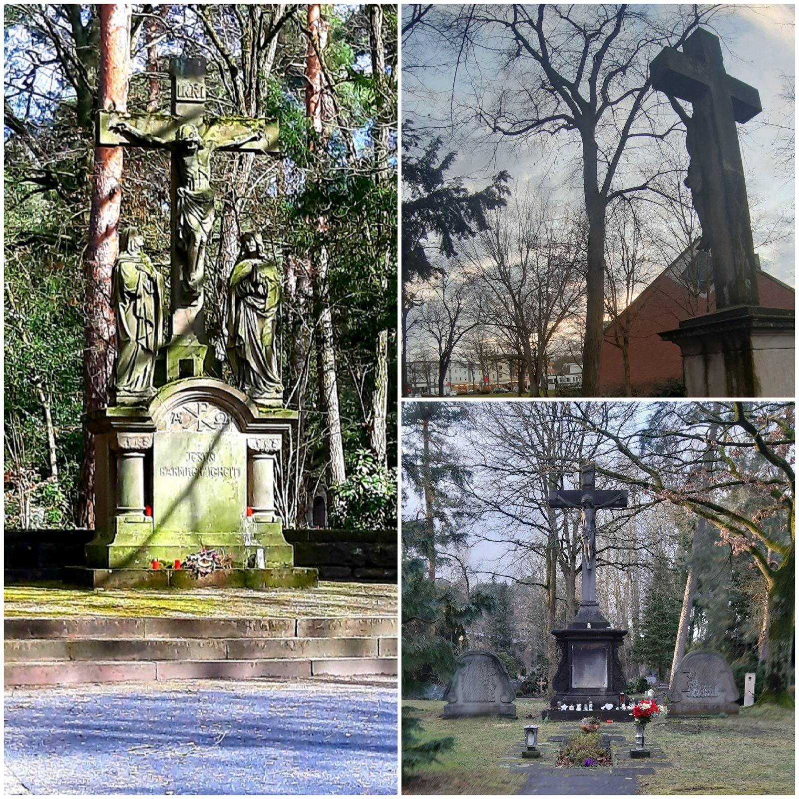 Collage der Friedhofskreuze