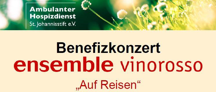 """Benefizkonzert Des Ensembles """"vinorosso""""  Am Sonntag, 12.11. In Der Ev. Christuskirche"""