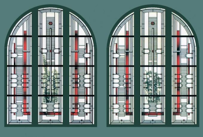 Entwürfe zu den Fenstern im Altarraum von St. Marien, Sande