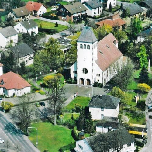 Lage Der Kirche St. Marien Im Zentrum Von Paderborn-Sande