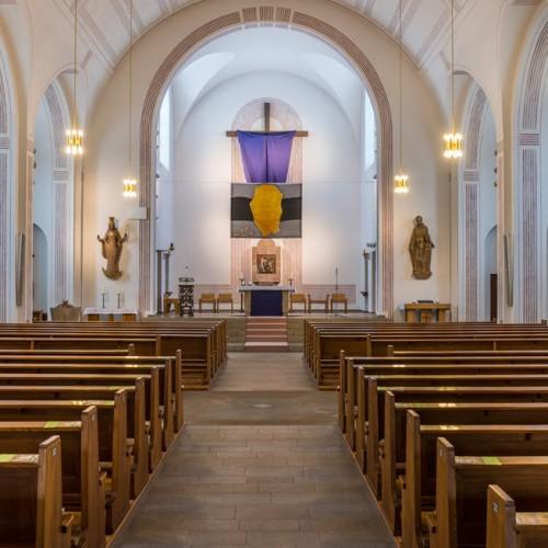 Sande St. Marien, Kirchenschiff Mit Blick Zum Altar