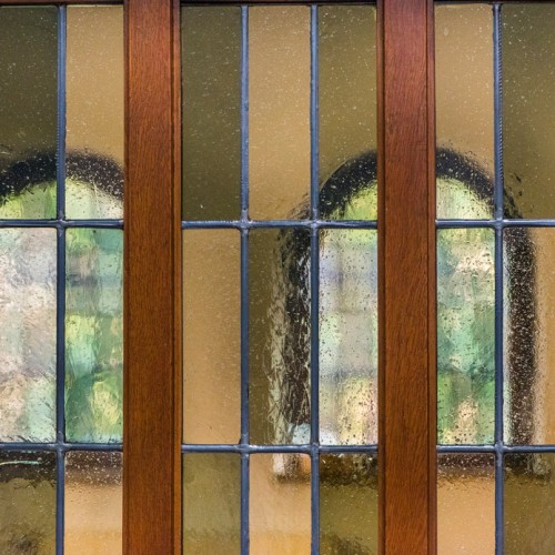 Sande St. Marien, Fenster Der Sakristeitür