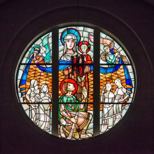 Sande St. Marien, Fenster über Dem Eingang An Der Westfassade