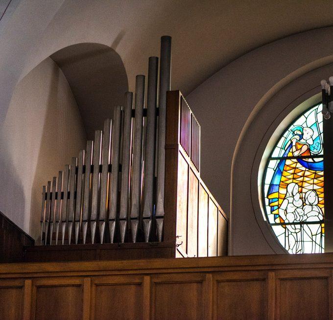 Sande St. Marien, Blick Zur Orgelempore