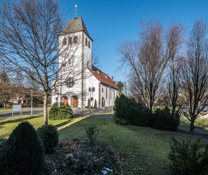 Sande St. Marien, Außenansicht Von Südwest