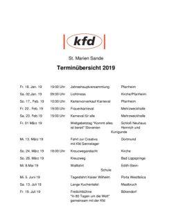 thumbnail of Terminplan 2019 kfd Sande